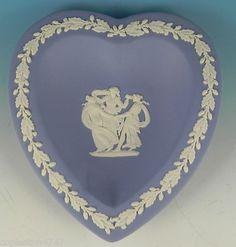 Blue & white heart Wedgewood dish.
