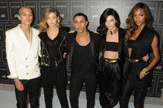 Splash Dudley O'Shaughnessy, Gigi Hadid, Olivier Rousteing, Kendall Jenner, and Jourdan