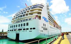 Cruise ship Pride of America dry-docks at Pearl Harbor Naval ...