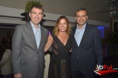 YoFui.com: Pablo Montivero, Katherine Salosny, Patricio Solar en Celebración de los 30 años de PepsiCo Alimentos en Chile, Terraza del The Ritz Carlton, Santiago (Chile)