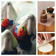 Sugar Ghosts Cupcakes Recipe from Taste of Home -- shared by Mysie Sabin of Franklin, Wisconsin