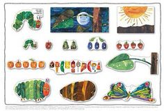The Very Hungry Caterpillar Wall Decorations