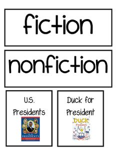 Second Grade Freebies: Fiction and Nonfiction