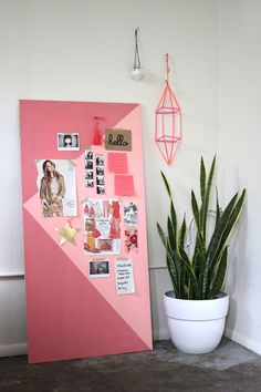 DIY inspiration board (good for renters too since you don't have to hang it).