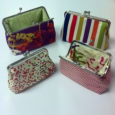 Dear Stella frame purses using our Piper collection