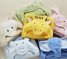 So many cute hooded bath wraps