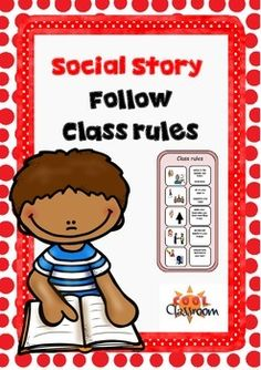 Social Story - Following Class Rules First Grade Classroom, Autism Classroom, Special Education Classroom, Classroom Themes, Classroom Rules, Autism Behavior Management, Classroom Management, Social Stories Autism, Teacher Resources