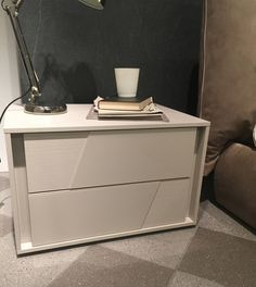 Tomasella Kross Bedside Cabinets with Glass drawer fronts