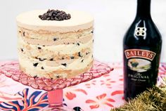 Baileys Chocolate Chip-Passion Fruit Layer Cake by Christina Tosi of Milk Bar Momofuku Milk Bar, Momofuku Cake, Beaux Desserts, Sweet Desserts, Holiday Desserts, Baileys Cake, Passion Fruit Curd, Christina Tosi, Layer Cake Recipes