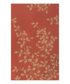 Take a look at this Terra-Cotta & Peach Ivy Rug by The Rug Market on #zulily today!