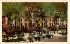 Visit the post for more. Saratoga Springs New York, Homewood Suites, Old Postcards, Grand Hotel, Yahoo Images, Victorian Era, Garden Art, Palace, Image Search