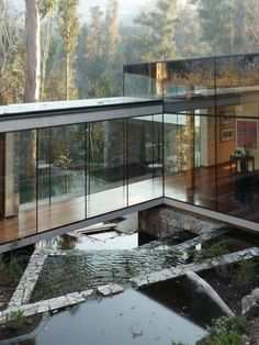 A glass house in Lo Curro we wouldn t throw stones at by Schmidt Arquitectos via trendland- architecture, design Architecture Design, Residential Architecture, Amazing Architecture, Contemporary Architecture, Natural Architecture, Installation Architecture, Residential Land, Minimal Architecture, Architecture Interiors