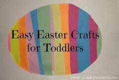 A HUGE thank you to Melissa from Never a Dull Moment for guest posting for me today! She's a crafty mama with a knack for children's activities, especially around the holidays! Enjoy some Easter toddler crafts!! For the past month or so I've perused Pinterest and searched Google for some options Easter craft options for Lexie {2 1/2 years old}. There are many out there as I'm sure most of you know, but some of them are a little complex, some a little tacky to me; an...
