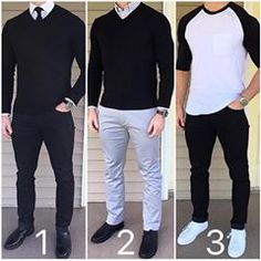"Chris Mehan on Instagram  ""Black and White 🔲 Which black and white outfit  would you pick❓ Dressier with a tie 8d8b837b12c"