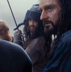 Previous pinner said: I know this is about Thorin's eye colour but just look at Bofur hair! It's just so long and those eyes...