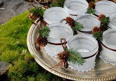 Veja mais algumas ideias simples e bacanas para você reproduzir em casa e também na ceia neste Natal. - Veja mais em: http://www.vilamulher.com.br/artesanato/galeria-de-ideias/decoracao-de-natal-com-itens-basicos-17-1-7886462-281.html?pinterest-mat
