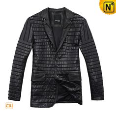 Cool Leather Blazer Jacket Autumn Men Leather Blazer Jacket CW866830 $578.78 - www.cwmalls.com