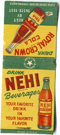 """1928: the """"Nehi Corporation"""" name was adopted by the Royal Crown Company when the fruit-flavored #Nehi sodas became popular. #Beverage Vintage Ephemera, Vintage Ads, Vintage Signs, Advertising Signs, Vintage Advertisements, Soda Brands, Light My Fire, Vintage Soft, Beverages"""
