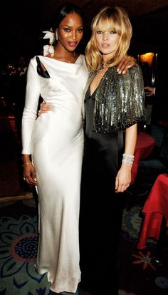 Famous Friends in Fashion - Naomi Campbell and Kate Moss
