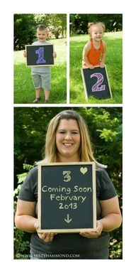 """sibling pregnancy announcement ideas - I like the """"coming soon"""" part"""