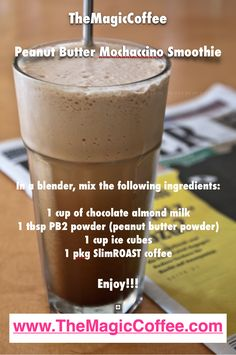 A yummy smoothie recipe as an alternate way to enjoy the Valentus Prevail SlimROAST coffee!! #themagiccoffee #slimroast #valentus