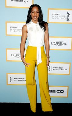 Kelly Rowland from The Best of the Red Carpet The singer hits her fashion high notes in at the Essence luncheon.