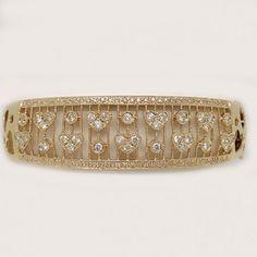 14k Rose Gold Diamond Bangle. Diamond weight 1.45 ct.