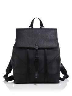 Kenzo Leather Backpack in Black for Men | Lyst