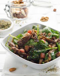 Spinatsalat mit gegrilltem Gemüse Rezept - SONNENTOR.com
