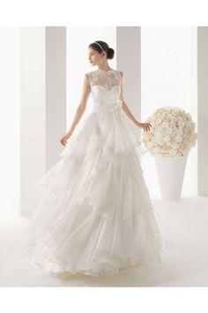 ジュエルネック コート ウェディングドレス Hro0057