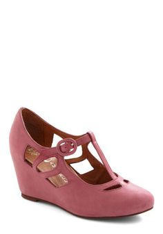 Pane and Simple Wedge in Rose, #ModCloth
