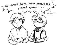 Will the real mass murderer please stand up? Hetalia Anime, Hetalia Fanart, Alfred Jones, Weird Look, Hetalia America, Hetalia Characters, Doujinshi, So Little Time, Anime Love