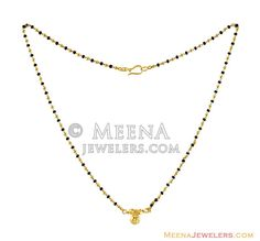 South Indian Style Mangalsutra - - Gold Mangalsutra designed with gold beads and black holy beads teemed together in an alternative Gold Mangalsutra Designs, Pendant Design, Indian Style, Gold Beads, Alternative Fashion, Indian Fashion, Holi, Arrow Necklace, Nyc