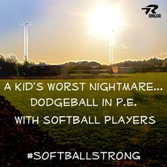 A kid's worst nightmare... dodge-ball in P.E. with softball players!  #Softballstrong @RINGOR