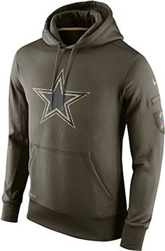 new product 2dcb1 ac551 Nike Dallas Cowboys NFL Salute To Service Pullover Therma... https