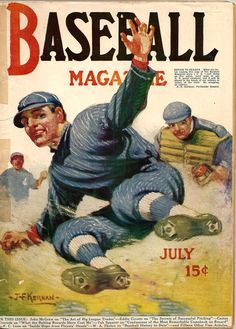 Vintage baseball magazine illustration