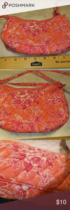Retired Vera Bradley Sherbet pattern Crossbody Retired Vera Bradley Sherbet Crossbody bag, small, zipper closure, 8.5 inches x 6.25 inches. 100% cotton. Great for travel. Fully washable Vera Bradley Bags Crossbody Bags