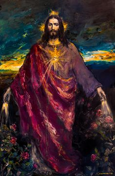 I usually do not like pictorial representations of Jesus, but this is nice. Jesus Christ Painting, Jesus Art, Pictures Of Jesus Christ, Religious Pictures, Christian Paintings, Christian Art, Catholic Art, Religious Art, Image Jesus