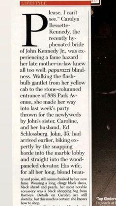 John Kennedy Jr, Carolyn Bessette Kennedy, All Is Well, The Flash, Newlyweds, Just Married