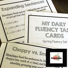 FREE Spring Fluency Task Cards from @MsJordanReads -- Perfect for Literacy Centers, Daily 5, Guided Reading, or sending home with students!