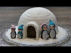 Iglu Motivtorte mit Pinguinen |  Weihnachts-Motivtorte von Nicoles Zuckerwerk - YouTube