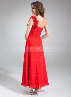 dress Dress First, One Shoulder, Chiffon, Formal Dresses, Fashion, Silk Fabric, Formal Gowns, Moda, Fashion Styles