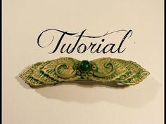 Natural/Elven Gold & Green Polymer Clay Hair Clip Decoration Tutorial | Velvetorium - YouTube