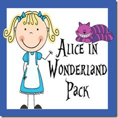 FREE Alice in Wonderland #printable early learning pack for kids #preschool - 2nd grade. Variety of learning activities.