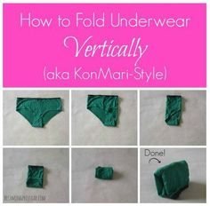 how to fold underwear the Konmari way