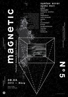 Magnetic V: minimalistic and geometrical graphic design artwork   typography / graphic design: David Błażewicz  