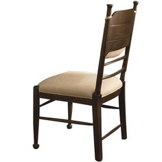 Down Home Side Chair. Wood side chair with a removable back cushion.Product: Side chairConstruction Material: Poplar veneers, hardwood ...