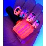Glow in the dark sunset nails! Amazing! Nails
