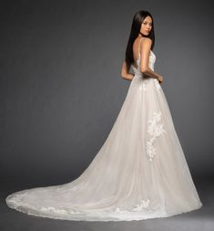 Lazaro Style 3860 Vanessa Bridal Gown Back