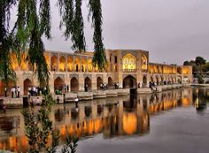 Khajoo Bridge in Isfahan, Iran